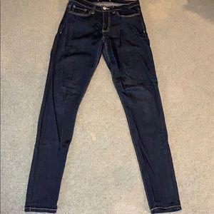 Dark wash super soft skinny jeans